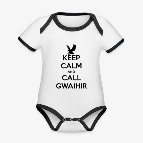 Keep Calm And Call Gwaihir - Organic Baby Contrasting Bodysuit