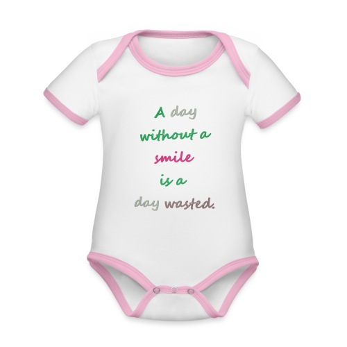 Say in English with effect - Organic Baby Contrasting Bodysuit