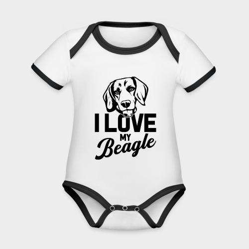 I LOVE MY BEAGLE - Baby Bio-Kurzarm-Kontrastbody