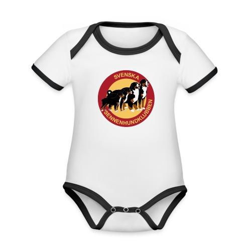 Sennenhundklubben - Ekologisk kontrastfärgad kortärmad babybody