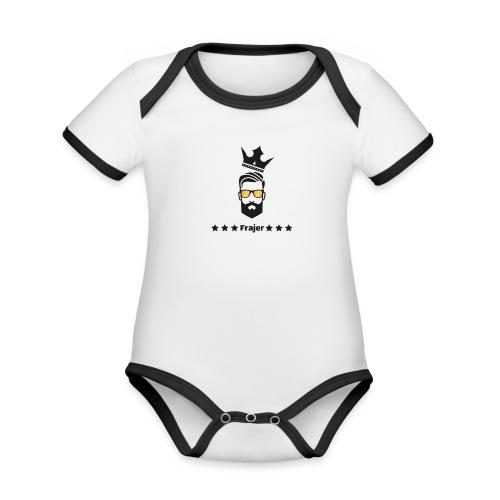King Frajer - Baby Bio-Kurzarm-Kontrastbody