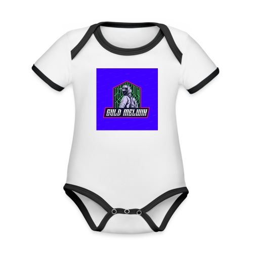 Guld Melwin - Ekologisk kontrastfärgad kortärmad babybody