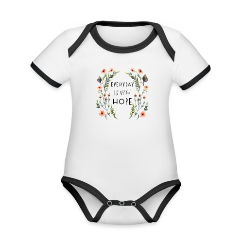 EVERY DAY NEW HOPE - Organic Baby Contrasting Bodysuit