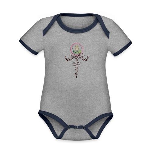 Lotus Unalome MaitriYoga - Body Bébé bio contrasté manches courtes