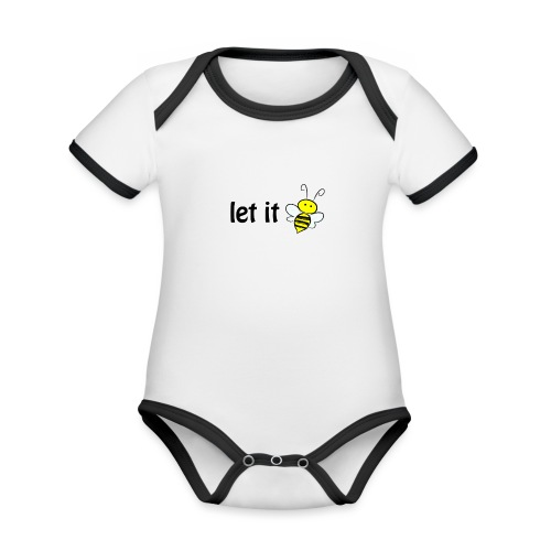 let it bee - Baby Bio-Kurzarm-Kontrastbody