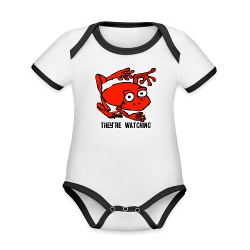 red frog - Body da neonato a manica corta, ecologico e in contrasto cromatico