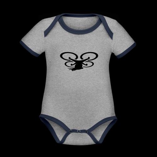 Einseitig bedruckt - Baby Bio-Kurzarm-Kontrastbody