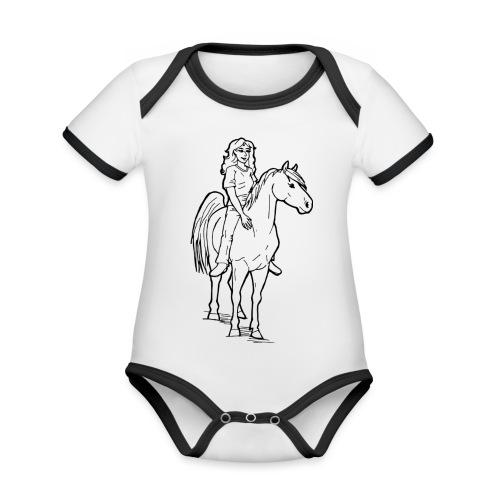 freie Reiterin - Baby Bio-Kurzarm-Kontrastbody