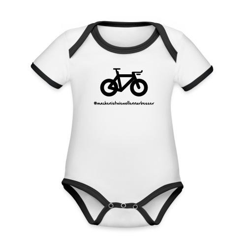 Tri Bike - Baby Bio-Kurzarm-Kontrastbody