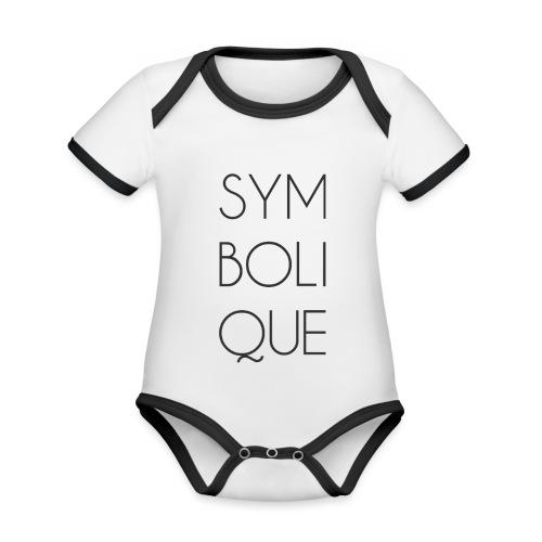 Symbolique - Body Bébé bio contrasté manches courtes