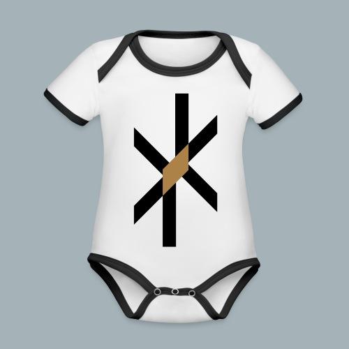 Orbit Premium T-shirt - Baby contrasterend bio-rompertje met korte mouwen