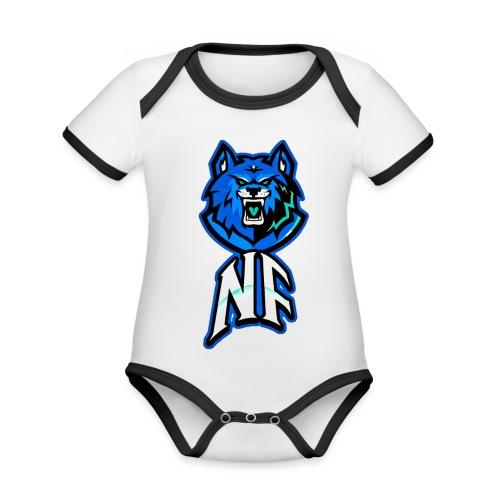 Noah Fortes logo - Baby contrasterend bio-rompertje met korte mouwen