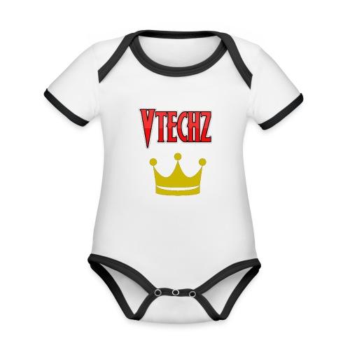 Vtechz King - Organic Baby Contrasting Bodysuit