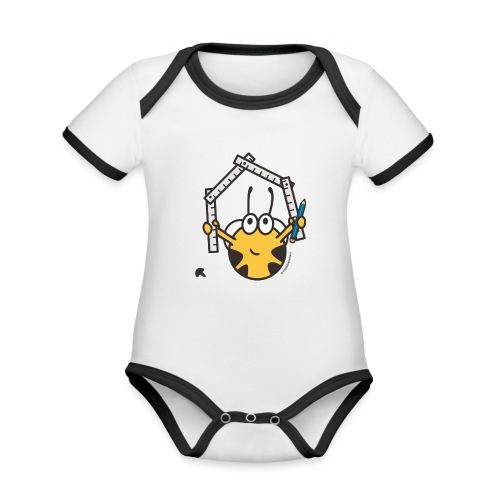 Handwerker - Baby Bio-Kurzarm-Kontrastbody