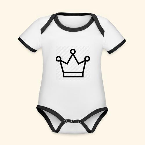 The Queen - Kortærmet økologisk babybody i kontrastfarver