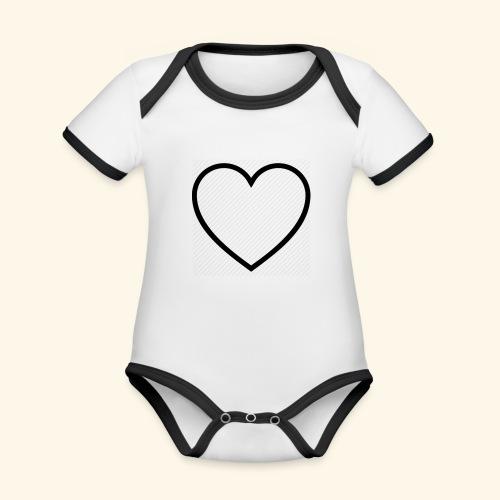 heart 512 - Kortærmet økologisk babybody i kontrastfarver