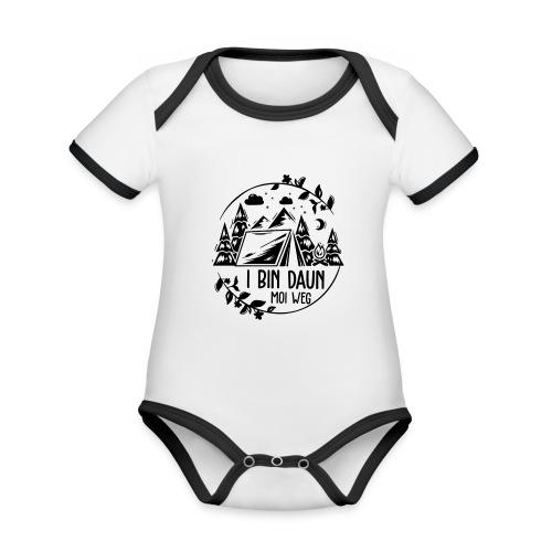 Vorschau: I bin daun moi weg - Baby Bio-Kurzarm-Kontrastbody