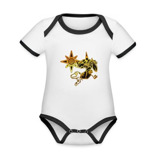 digimon - Body contraste para bebé de tejido orgánico