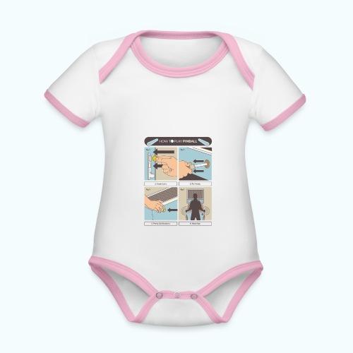 Vintage Pinball - Organic Baby Contrasting Bodysuit