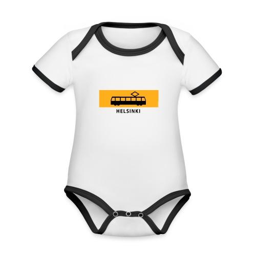 RATIKKA PYSÄKKI HELSINKI T-paidat ja lahjatuotteet - Vauvan kontrastivärinen, lyhythihainen luomu-body