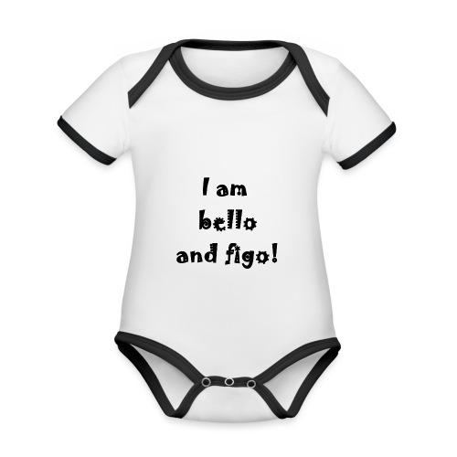 Bello and Figo - Organic Baby Contrasting Bodysuit