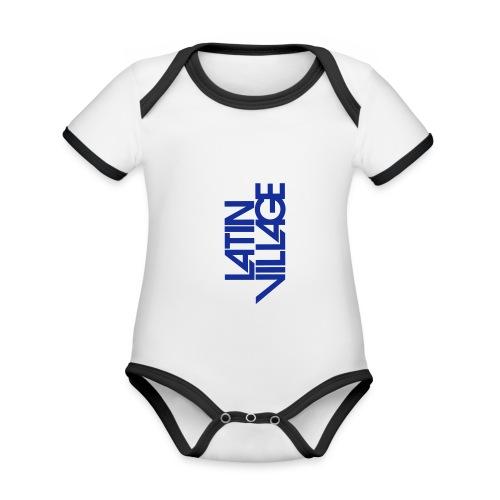 Logo Latin Village 30 - Baby contrasterend bio-rompertje met korte mouwen