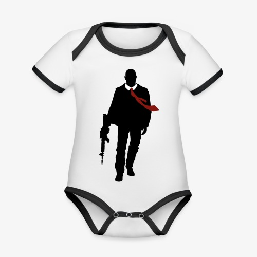 PREMIUM SO GEEEK HERO - MINIMALIST DESIGN - Body Bébé bio contrasté manches courtes