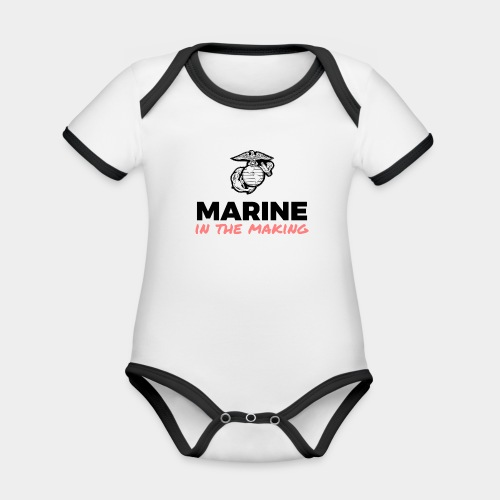 Marine in the Making - Organic Baby Contrasting Bodysuit