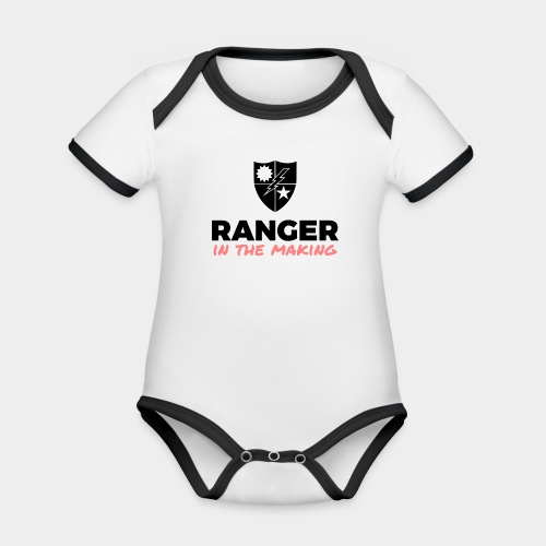 Ranger in the Making - Organic Baby Contrasting Bodysuit