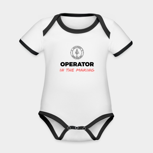 Operator in the making. - Organic Baby Contrasting Bodysuit