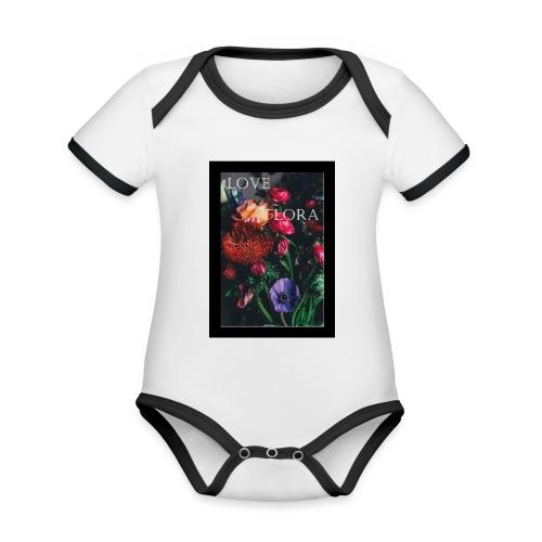 Love Flora - Baby Bio-Kurzarm-Kontrastbody