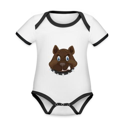PERRO ENFADADO - Body contraste para bebé de tejido orgánico