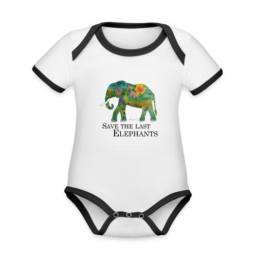 Save The Last Elephants - Baby Bio-Kurzarm-Kontrastbody