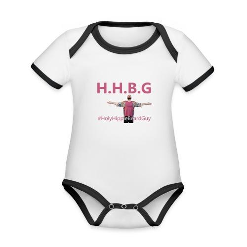HolyHippieBeardGuy - Body Bébé bio contrasté manches courtes