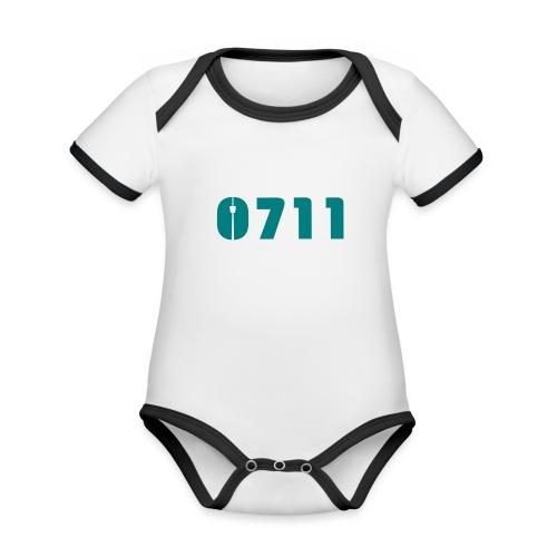 Baby-Mütze Stuttgart-0711 - Baby Bio-Kurzarm-Kontrastbody