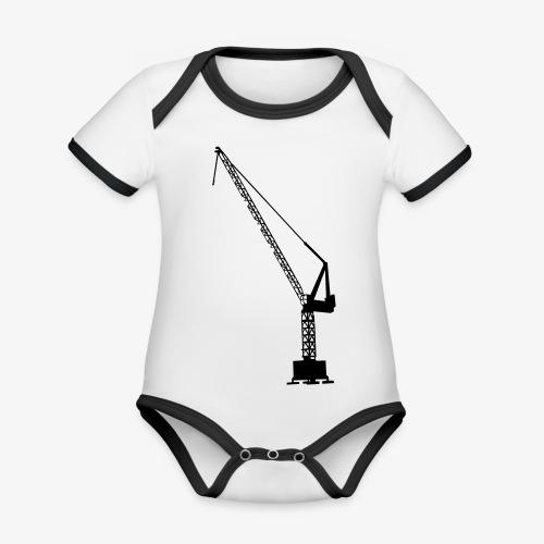 kraan - Baby contrasterend bio-rompertje met korte mouwen
