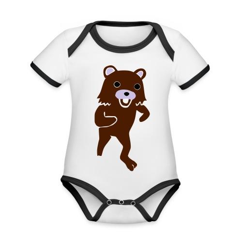 new Idea 15142400 - Ekologiczne body niemowlęce z krótkim rękawem i kontrastowymi lamówkami