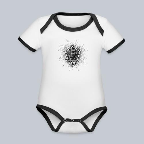 F... YOU - Baby Bio-Kurzarm-Kontrastbody
