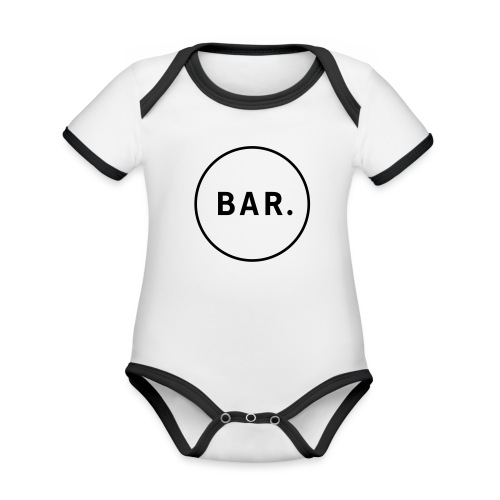 BAR Logo 1 farbig - Baby Bio-Kurzarm-Kontrastbody
