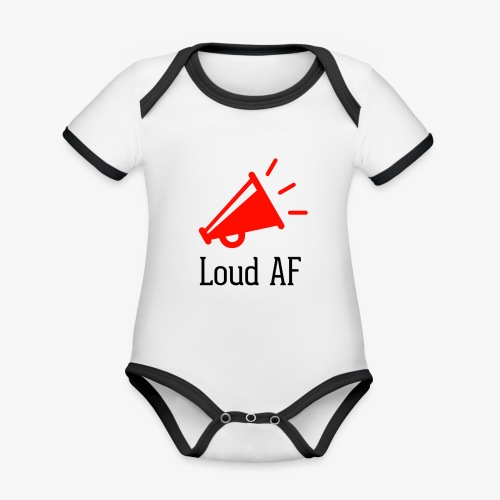 Loud AF - Baby Bio-Kurzarm-Kontrastbody