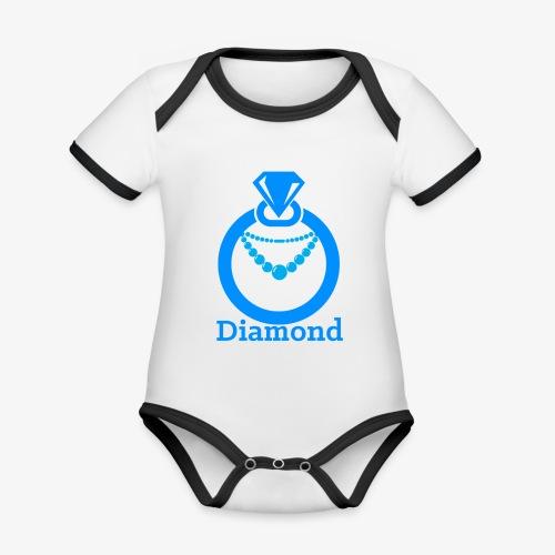 Diamond - Baby Bio-Kurzarm-Kontrastbody