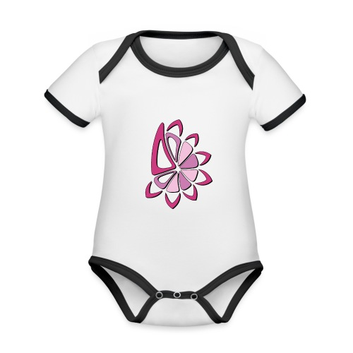 spicchi di sole multicolore rosa - Body da neonato a manica corta, ecologico e in contrasto cromatico