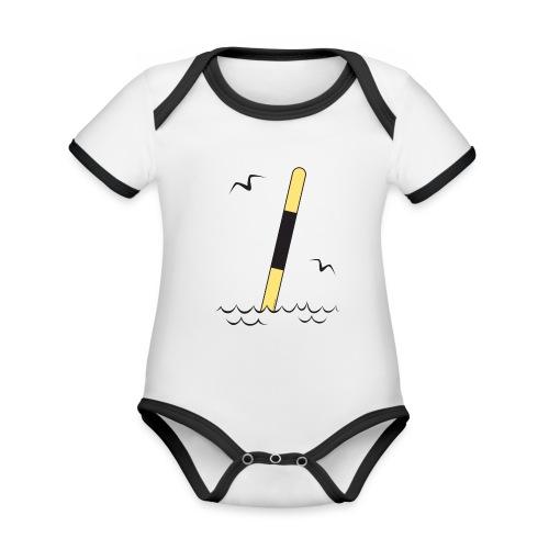 FP25 LÄNSIVIITTA Merimerkit funprint24 net - Vauvan kontrastivärinen, lyhythihainen luomu-body