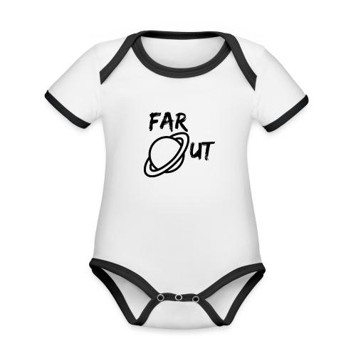 Far_Out_black - Body contraste para bebé de tejido orgánico
