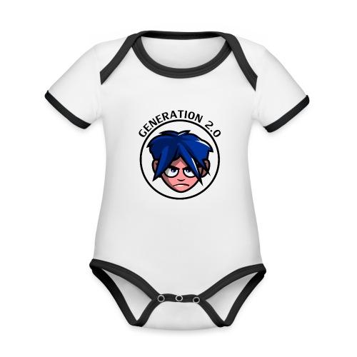 Generation 2.0 - Body da neonato a manica corta, ecologico e in contrasto cromatico
