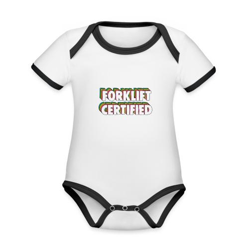 Forklift Certification Meme - Organic Baby Contrasting Bodysuit