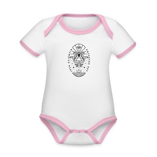 Knowledge WhiteSkull - Vauvan kontrastivärinen, lyhythihainen luomu-body