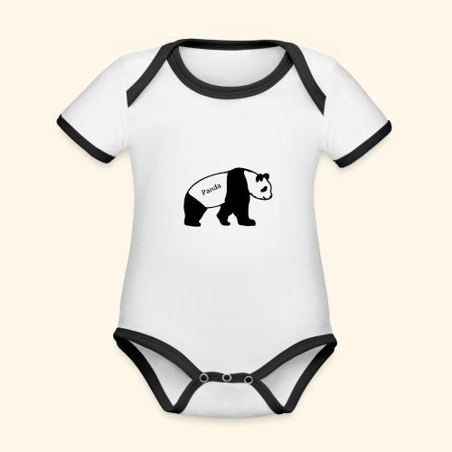 Panda - Baby Bio-Kurzarm-Kontrastbody
