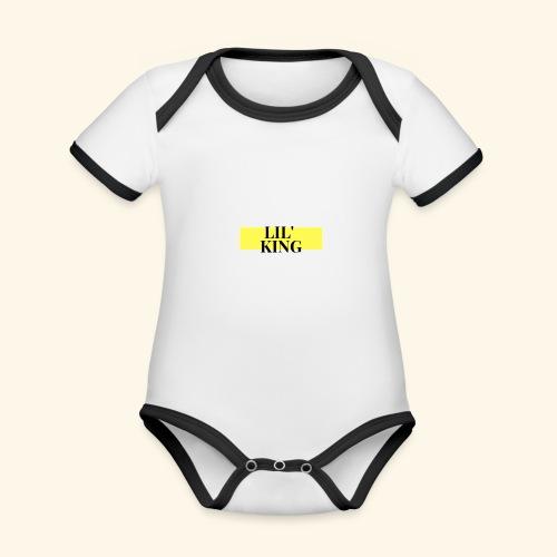 LIL KING - Body contraste para bebé de tejido orgánico
