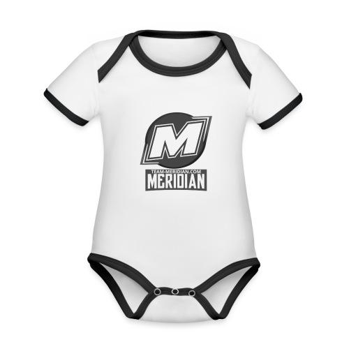 Meridian merch - Baby Bio-Kurzarm-Kontrastbody
